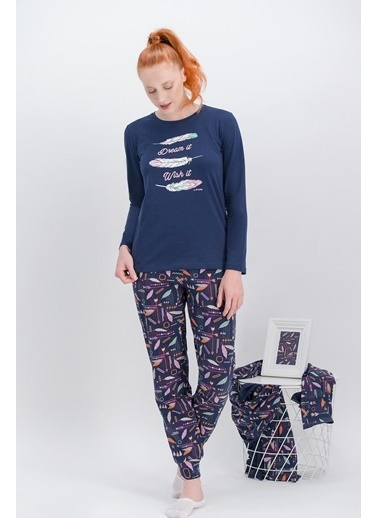Arnetta Arnetta Dream İnci Pembe Kadın Pijama Takımı Lacivert